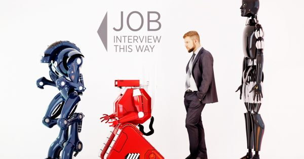 Robot job interview